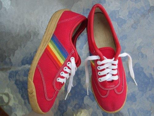 70s Rainbow Sneakers